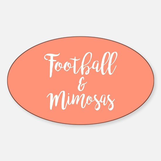 Football and Mimosas Sticker (Oval)