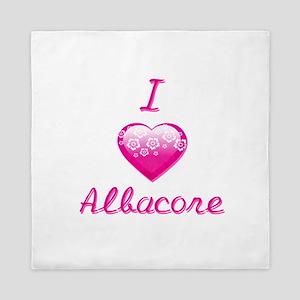 I Love/Heart Albacore Queen Duvet