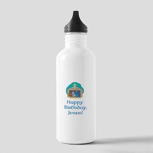 Happy Birthday Jesus Stainless Water Bottle 1.0L