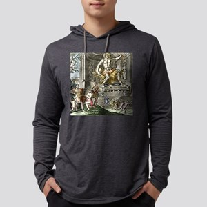 Statue of Zeus in Ancient Olympi Mens Hooded Shirt