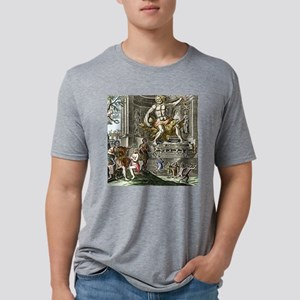 Statue of Zeus in Ancient O Mens Tri-blend T-Shirt