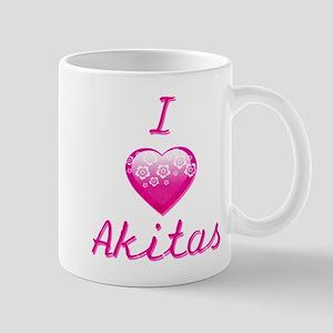 I Love/Heart Akitas Mug