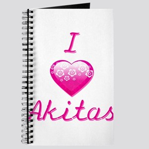 I Love/Heart Akitas Journal
