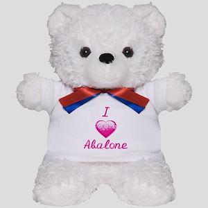 I Love/Heart Abalone Teddy Bear