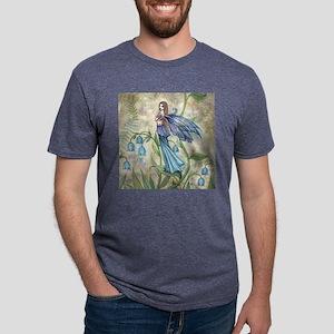 Blue Bell Fairy Art Mens Tri-blend T-Shirt