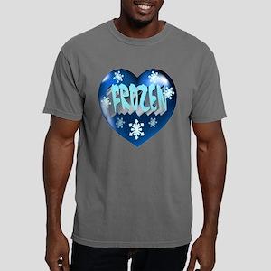 Blue FROZEN Heart Mens Comfort Colors Shirt