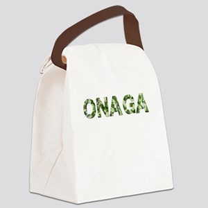 Onaga, Vintage Camo, Canvas Lunch Bag