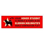 Alaskan Malamute World Domination! Bumper Sticker