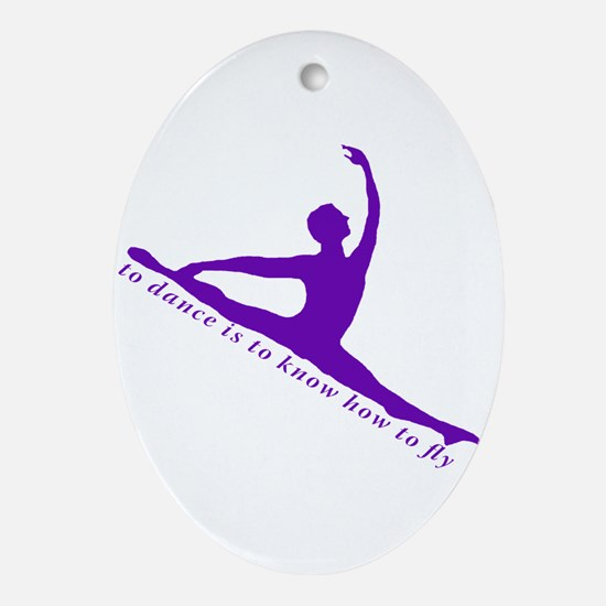 Purple Jete Ornament (Oval)