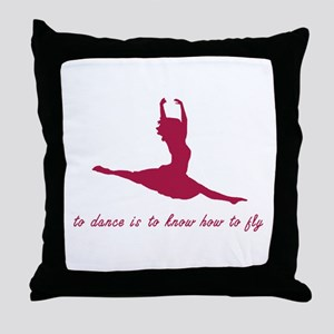 To Dance, To Fly Throw Pillow