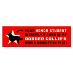 Border Collie World Domination! Bumper Sticker