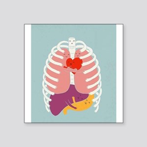 "Hugs Keep Us Alive Square Sticker 3"" x 3"""