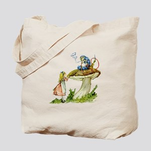 Alice and the Caterpillar Tote Bag