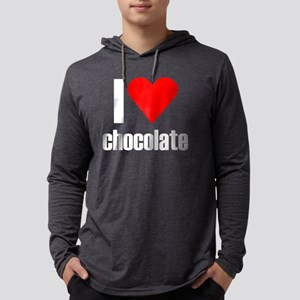 i heart chocolate black Mens Hooded Shirt