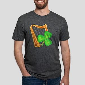 Harp and Clover Mens Tri-blend T-Shirt