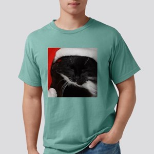 Christmas Cat square1.pn Mens Comfort Colors Shirt