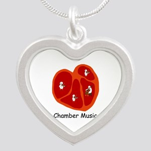 Chamber Music Silver Heart Necklace