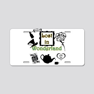 Lost in Wonderland Aluminum License Plate