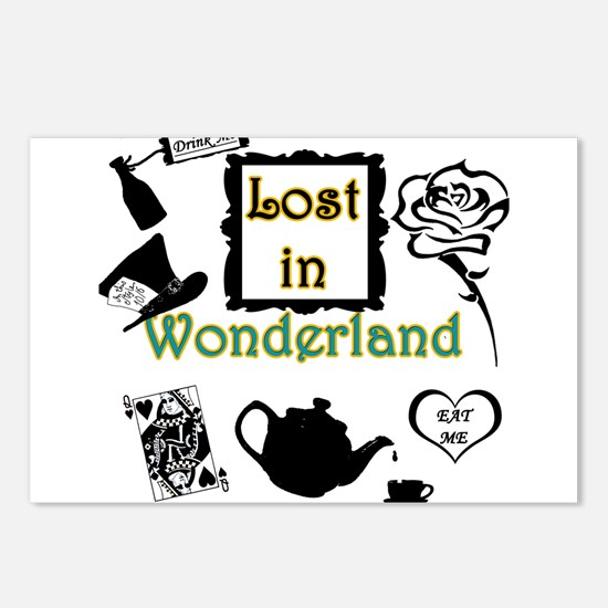 Lost in Wonderland Postcards (Package of 8)