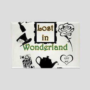 Lost in Wonderland Rectangle Magnet