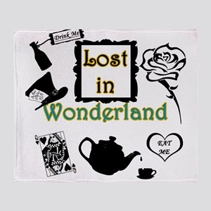 Lost in Wonderland Throw Blanket