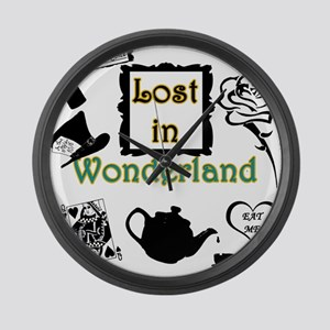 Lost in Wonderland Large Wall Clock