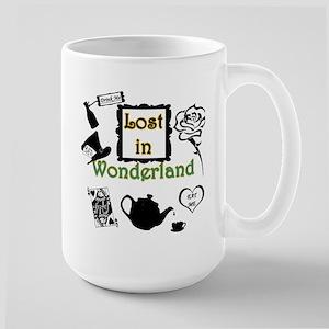 Lost in Wonderland Large Mug