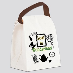 Lost in Wonderland Canvas Lunch Bag
