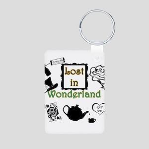 Lost in Wonderland Aluminum Photo Keychain