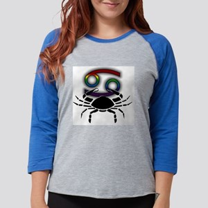 Rainbow Cancer   Womens Baseball Tee