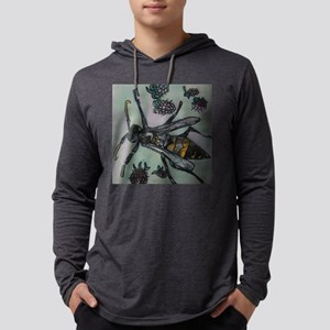 Wasp and blackberries Mens Hooded Shirt