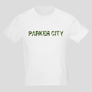 Parker City, Vintage Camo, Kids Light T-Shirt