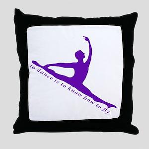 Purple Jete Throw Pillow