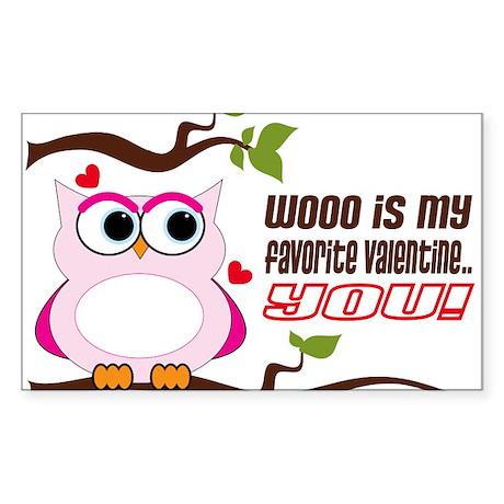 Favorite Valentine Sticker (Rectangle)
