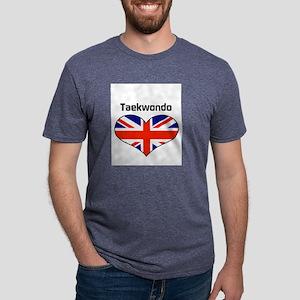 LOVE Taekwondo Union Jack Mens Tri-blend T-Shirt