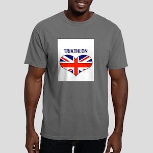 LOVETRIATHLON UNION JACK Mens Comfort Colors Shirt