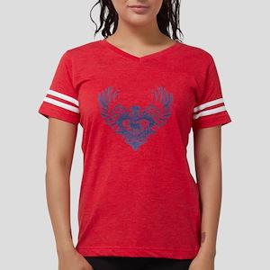Alaskan Malamute Winged Hear Womens Football Shirt