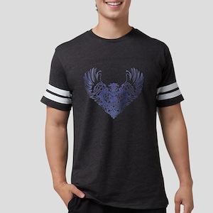Alaskan Malamute Winged Heart Mens Football Shirt