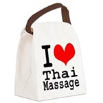 I love Thai Massage Canvas Lunch Bag