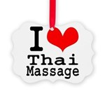I love Thai Massage Picture Ornament