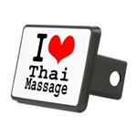 I love Thai Massage Rectangular Hitch Cover