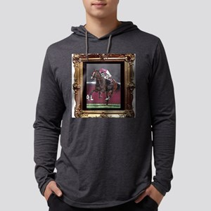 Horse Racing Mens Hooded Shirt