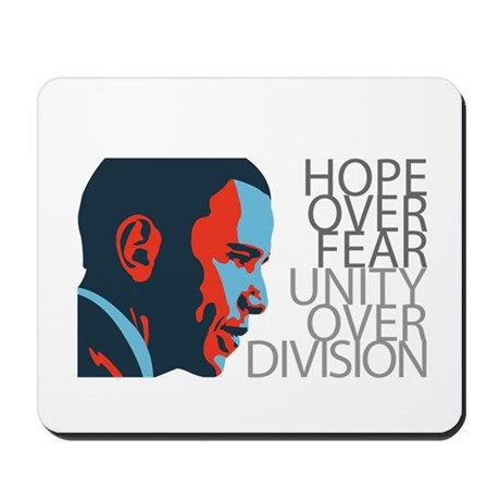 Obama - Red & Blue Mousepad