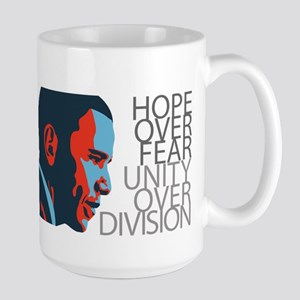 Obama - Red & Blue Large Mug