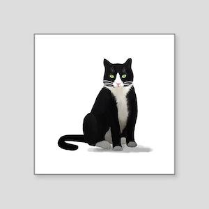 Black and White Tuxedo Cat Sticker