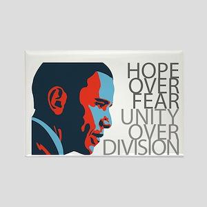 Obama - Red & Blue Rectangle Magnet