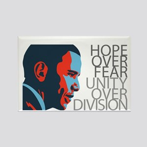 Obama - Red & Blue Rectangle Magnet