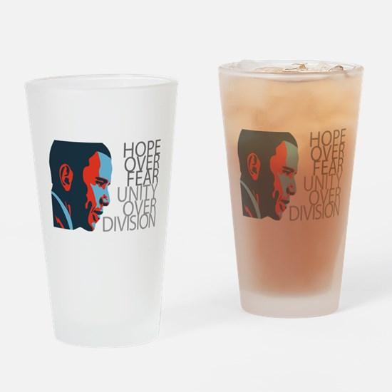 Obama - Red & Blue Drinking Glass