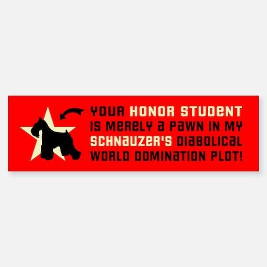 SCHNAUZER World Domination Bumper Bumper Bumper Sticker