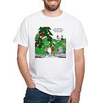Santa Squid White T-Shirt